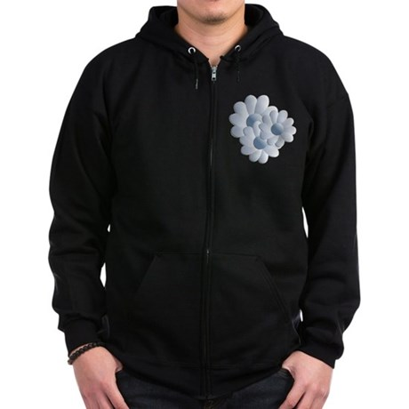 Pretty Daisy Trio - Blue Zip Hoodie (dark)