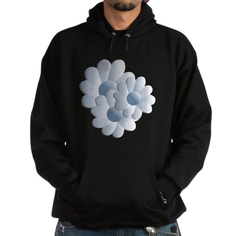 Pretty Daisy Trio - Blue Hoodie (dark)