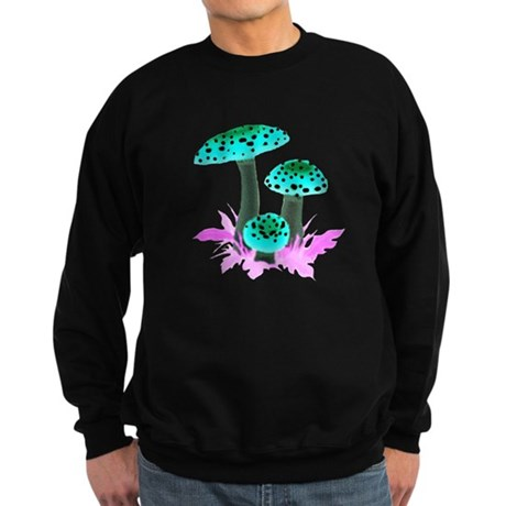 Teal Mushrooms Sweatshirt (dark)
