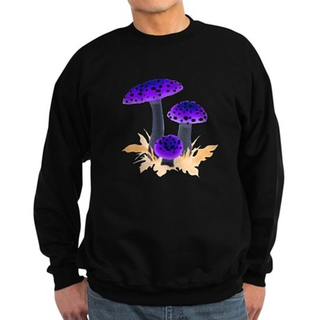 Purple Mushrooms Sweatshirt (dark)
