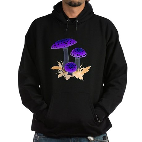 Purple Mushrooms Hoodie (dark)