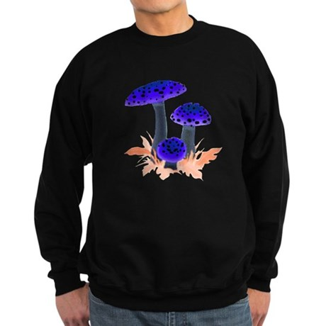 Blue Mushrooms Sweatshirt (dark)