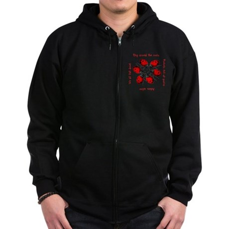 Ladybugs Playing Zip Hoodie (dark)