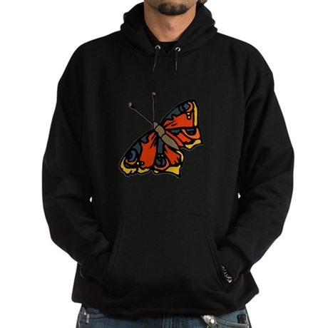 Orange Butterfly Hoodie (dark)