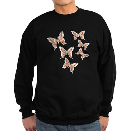 Orange Butterflies Sweatshirt (dark)