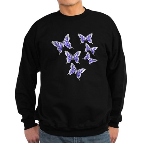 Purple Butterflies Sweatshirt (dark)