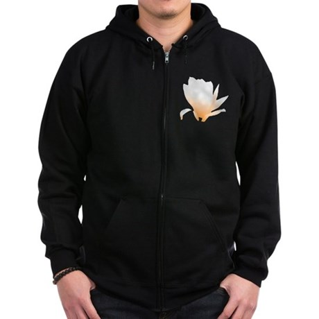 Pastel Orange Bloom Zip Hoodie (dark)