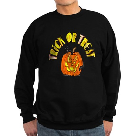 Jack o Lantern Cat Sweatshirt (dark)