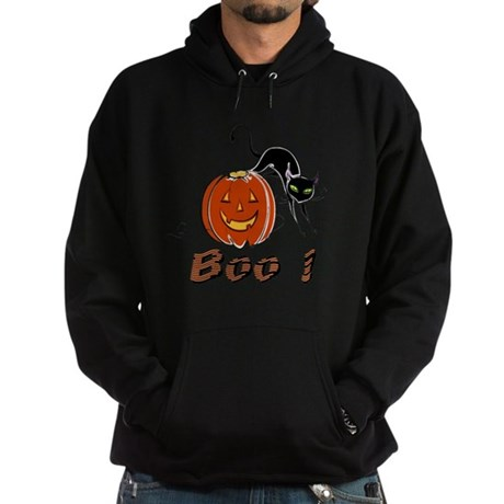 Halloween Pumpkin and Cat Hoodie (dark)