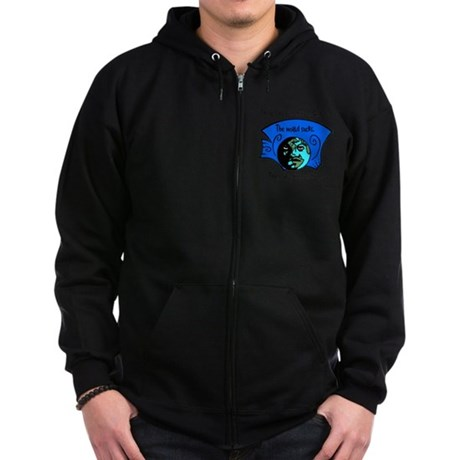 No Gravity The World Sucks Zip Hoodie (dark)