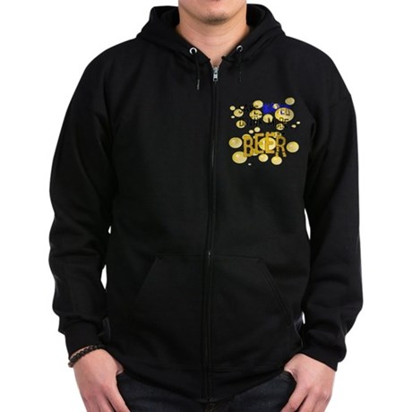 Save Water Drink Beer Zip Hoodie (dark)