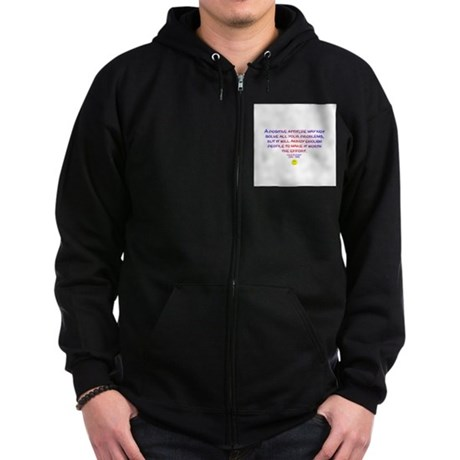 Positively Annoying Zip Hoodie (dark)