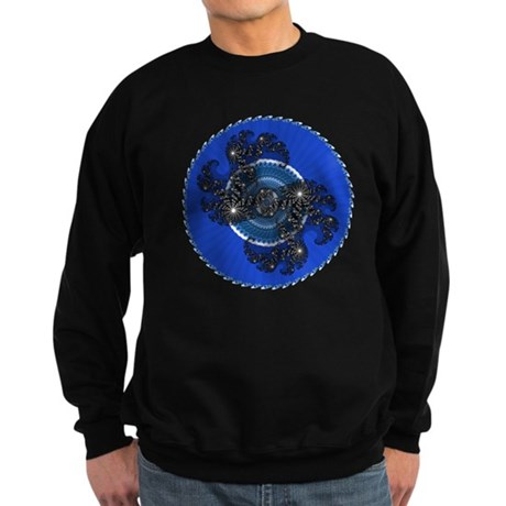 Fractal Kaleidoscope Blue Sweatshirt (dark)