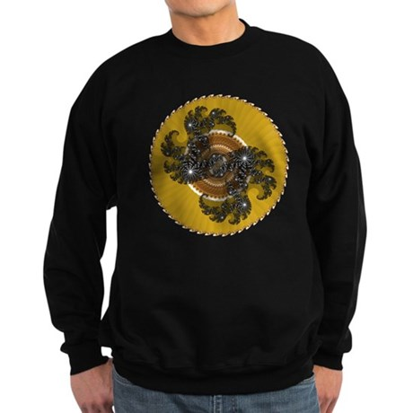 Fractal Kaleidoscope Gold Sweatshirt (dark)