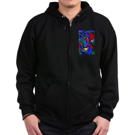 Abstract 001a Zip Hoodie (dark)