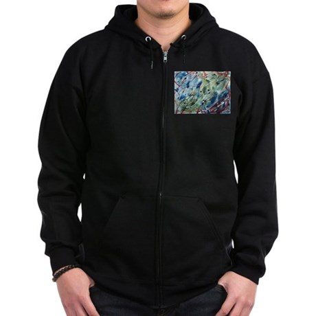 Untitled Abstract Zip Hoodie (dark)