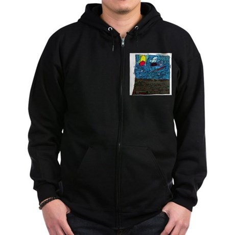 Two Asteroids Zip Hoodie (dark)