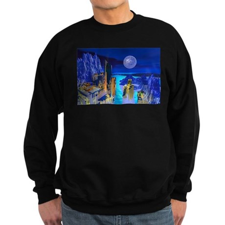 Fantasy Cityscape Sweatshirt (dark)