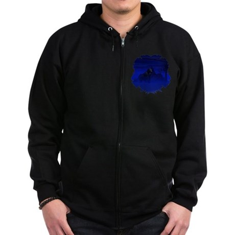 Night Gorilla Zip Hoodie (dark)