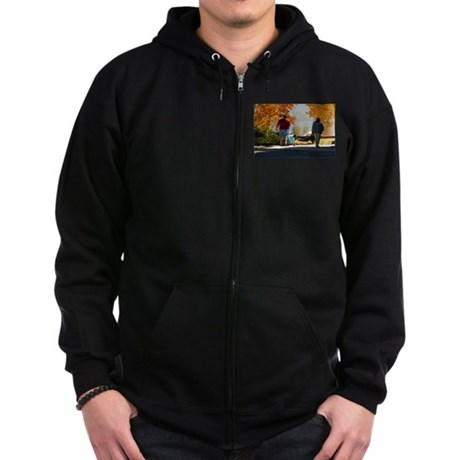 Early Autumn Stroll Zip Hoodie (dark)
