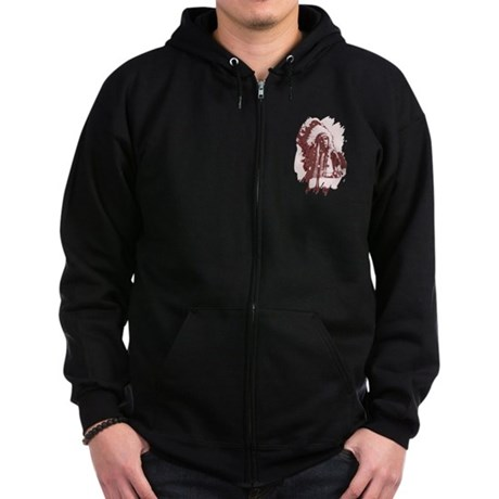 Indian Chief Zip Hoodie (dark)
