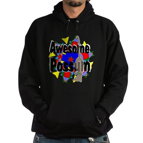 Awesome Possum Kaleidoscope Hoodie (dark)