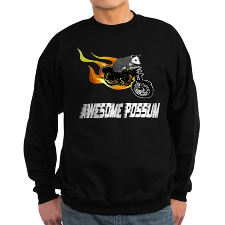 Flaming Awesome Possum Sweatshirt (dark)