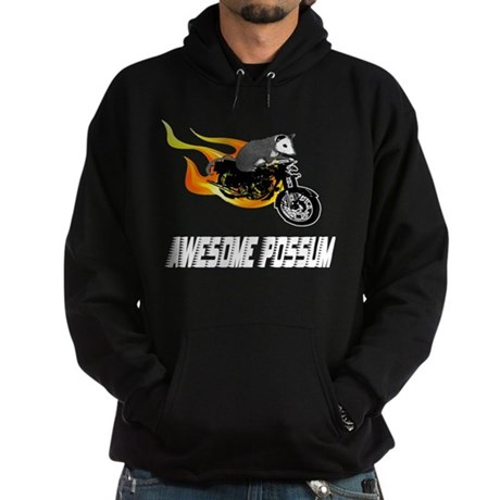 Flaming Awesome Possum Hoodie (dark)