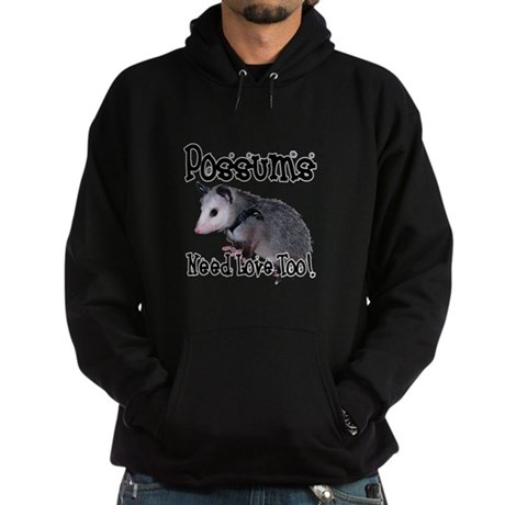 Possums Need Love Hoodie (dark)