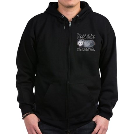 Possums Need Love Zip Hoodie (dark)
