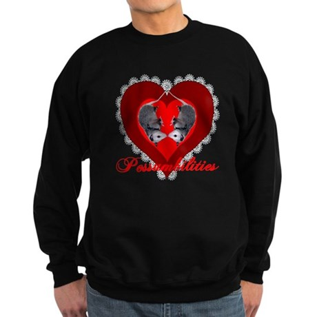 Possumbilities Valentines Day Sweatshirt (dark)
