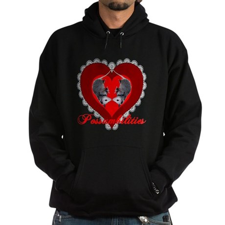 Possumbilities Valentines Day Hoodie (dark)
