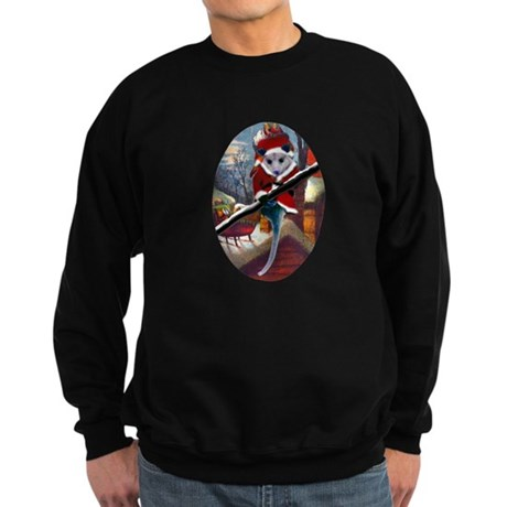 Possum Santa on Rooftop Sweatshirt (dark)