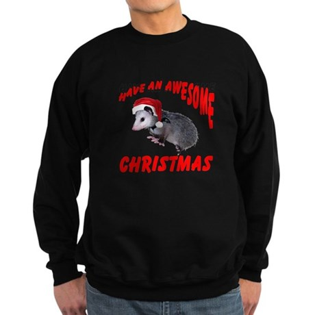 Santa Helper Possum Sweatshirt (dark)