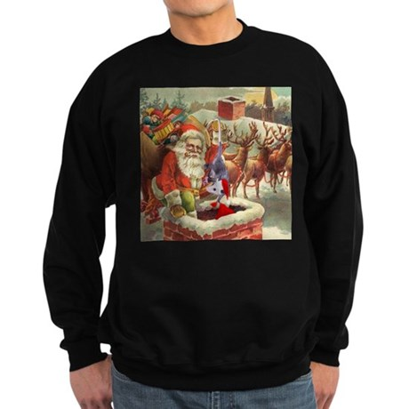 Santa's Helper Possum Sweatshirt (dark)