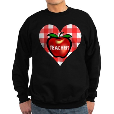 Teacher Heart Apple Sweatshirt (dark)