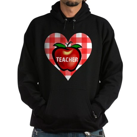 Teacher Heart Apple Hoodie (dark)
