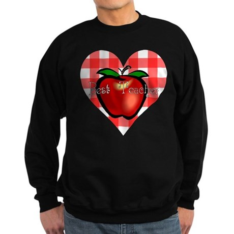 Best Teacher Checkered Heart Sweatshirt (dark)