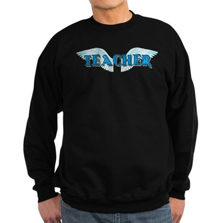 Angel Wings Teacher Sweatshirt (dark)