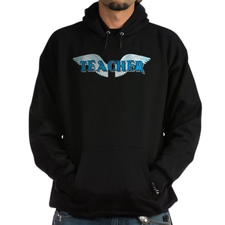 Angel Wings Teacher Hoodie (dark)