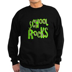 School Rocks - Lime Sweatshirt (dark)