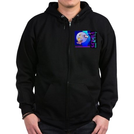 Female Scuba Diving Zip Hoodie (dark)