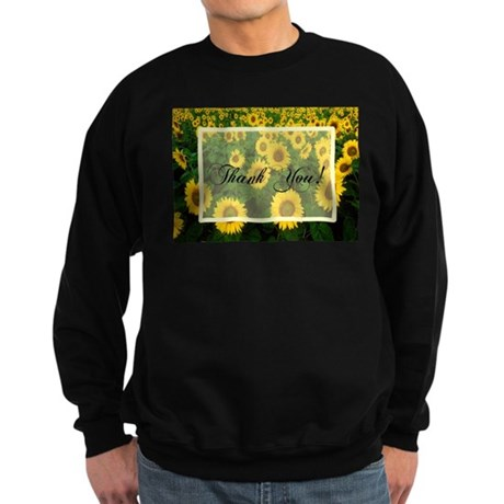 Sunflower Field Thank You Sweatshirt (dark)