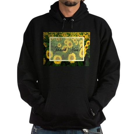 Sunflower Field Thank You Hoodie (dark)