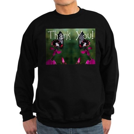 Thank You Butterflies Sweatshirt (dark)