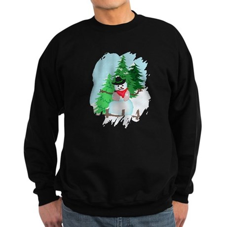 Forest Snowman Sweatshirt (dark)