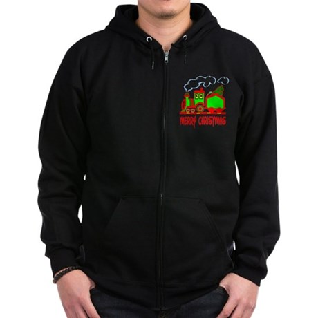 Christmas Train Zip Hoodie (dark)