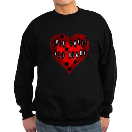 Holes in Heart Sweatshirt (dark)