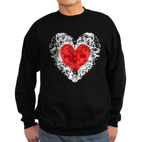 Pretty Grunge Heart Sweatshirt (dark)