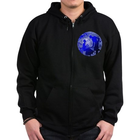 Blue Moon Lovers Zip Hoodie (dark)